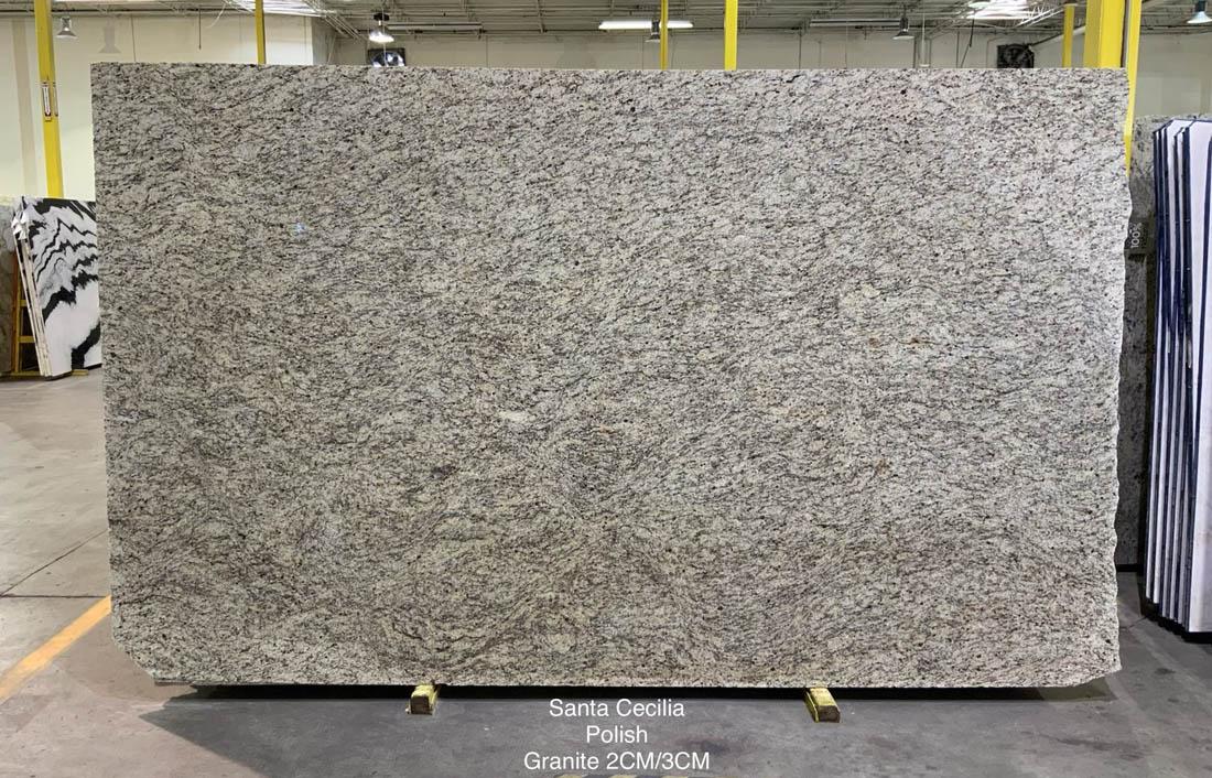 Santa Cecilia White Granite Slabs Polished Granite Slabs