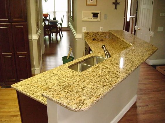Santa Cecilia Yellow Granite Kitchen Countertops