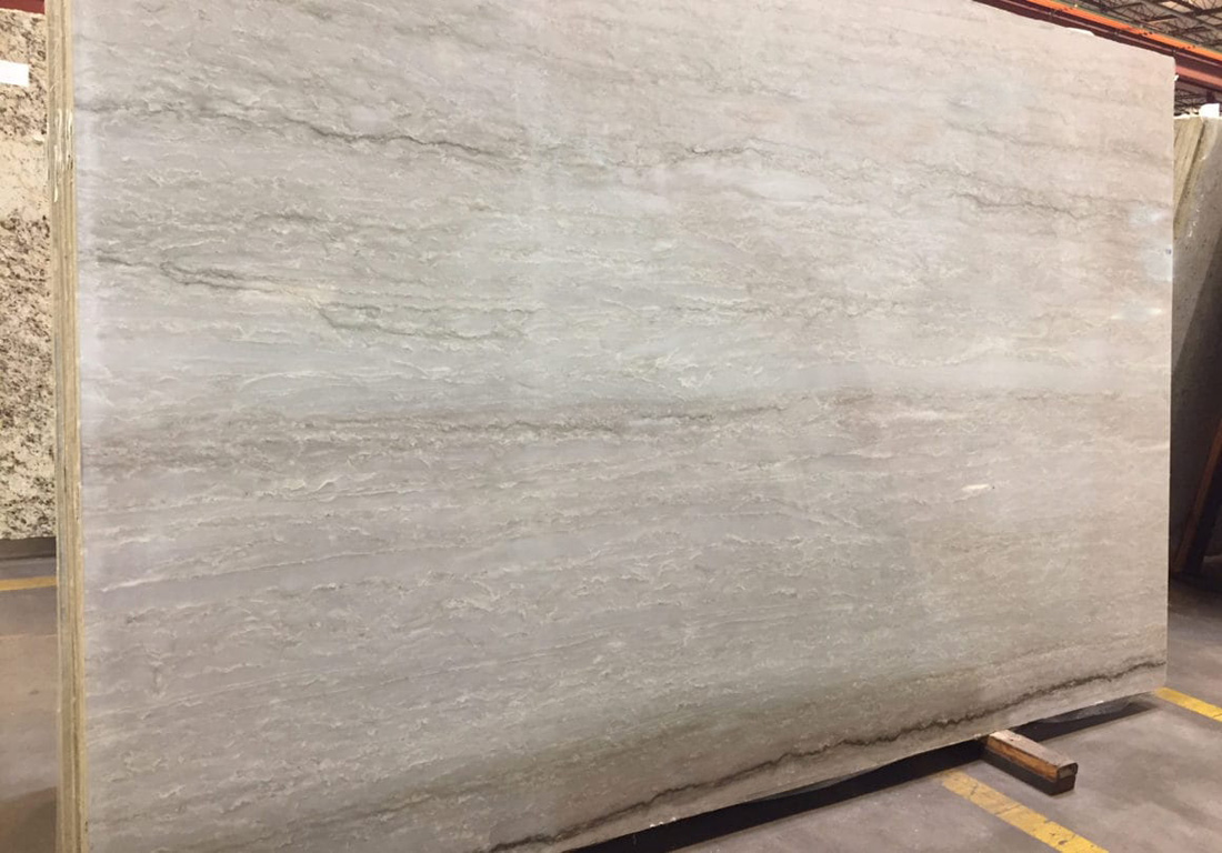 Sea Pearl Quartzite Slab Polished White Quartzite Stone Slabs