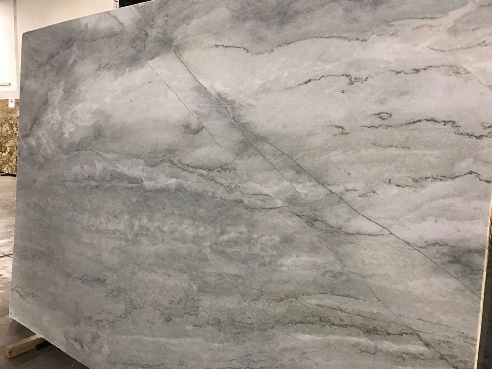 Sea Pearl Suede Quartzite Slab Grey Quartzite Slabs