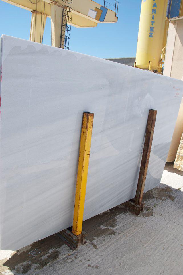 Semi White Marble Slabs Greek Marble Slabs