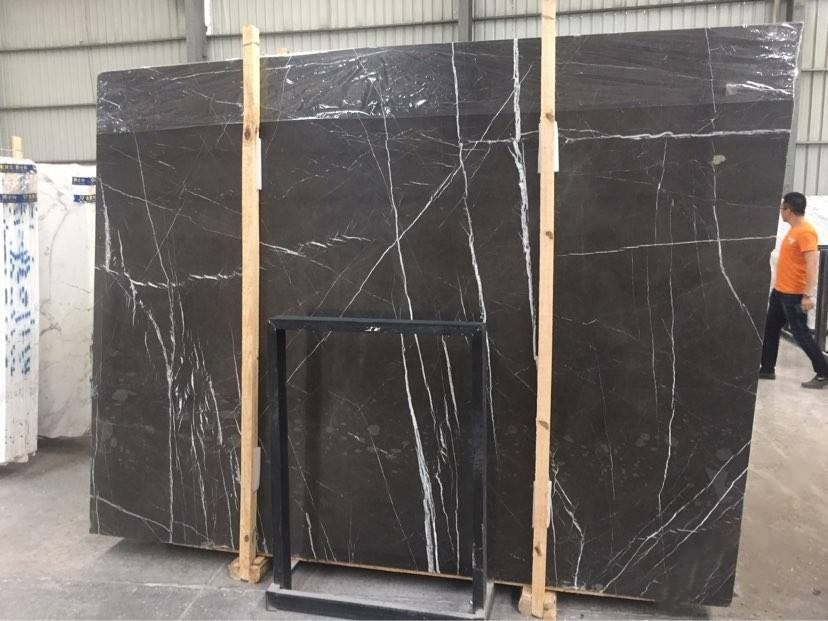 Shakespeare Grey with White Roots Marble Slabs