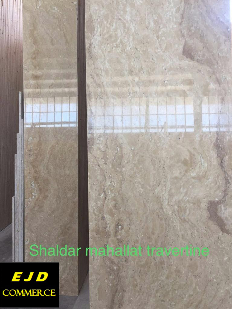 Shaldar Mahallat Travertine Polished Tiles