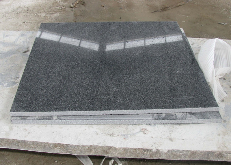 Shandong Grey Granite Tiles Polished Flooring Tiles