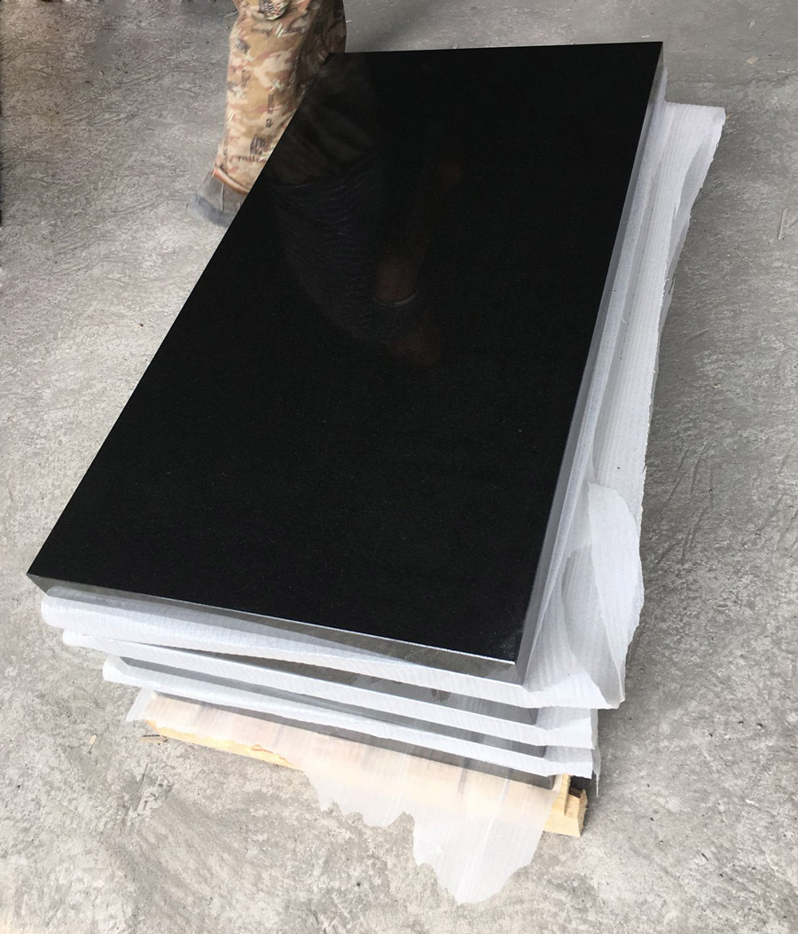 Shanxi Black Granite Polished Granite for Monuments