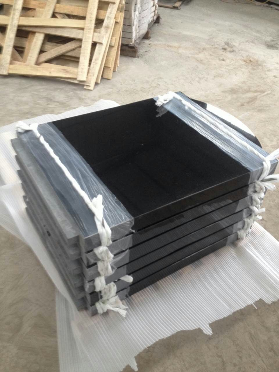 Shanxi Black Granite Polished Tombstone
