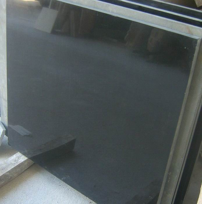 Shanxi Black Granite Tiles Polished Black Granite Tiles