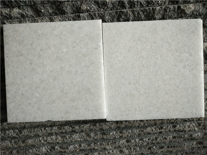 Shanxi Crystal White Marble Tiles