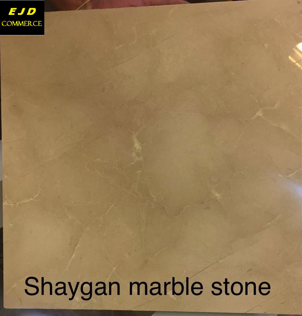 Shaygan Marble Tiles Beige Polished Marble Tiles for Flooring
