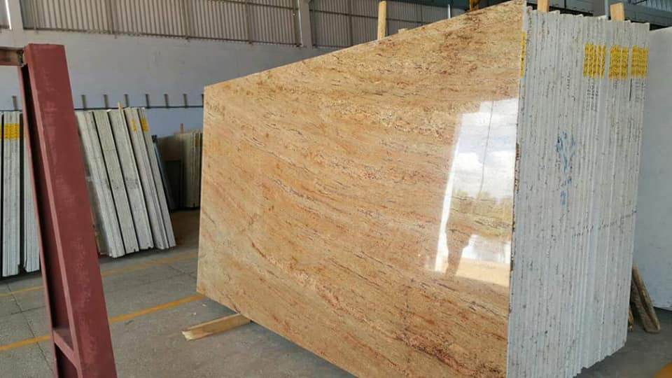 Shiva Gold Polished Granite Slabs Yellow Granite Slabs
