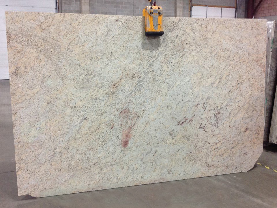 Shivakashi Ivory Polished Granite Slabs