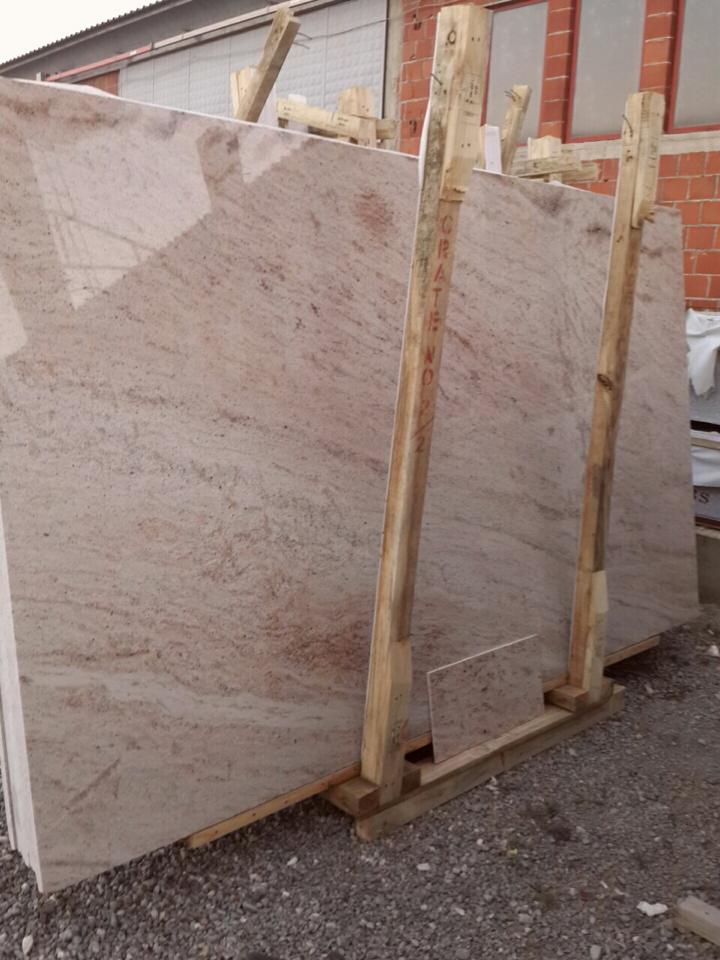 Shivakashi Ivory Slabs Polished Indian Granite Slabs