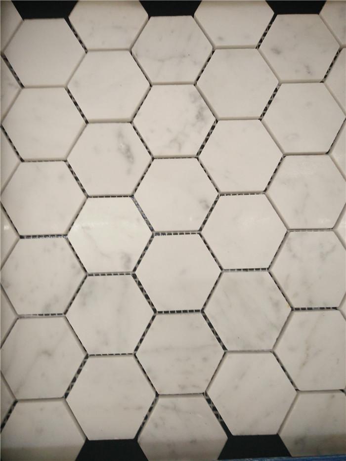 Sichuan Pure White Marble Stone Mosaic