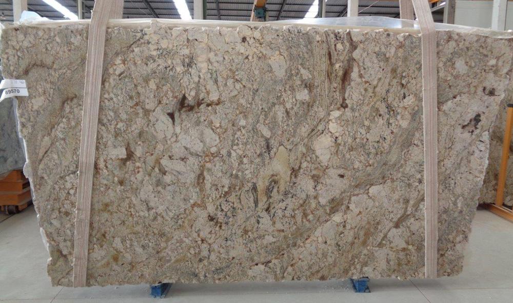 Siena Bordeaux Granite Slab Beige Polished Granite Stone Slab