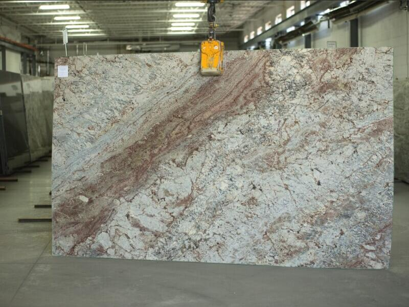 Sienna Bordeaux Granite Slab Brazil Beige Polished Granite Stone Slabs