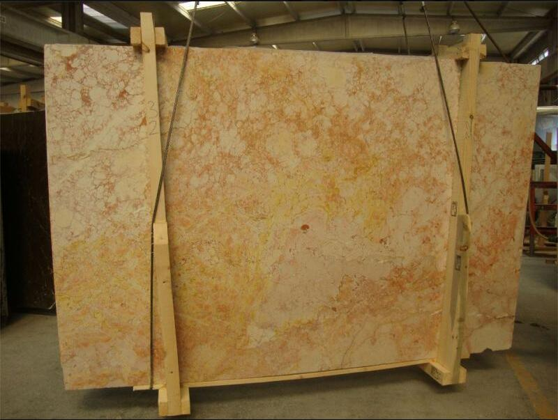 Silifke Rosa Marble Stone Slabs Turkish Beige Marble Slabs