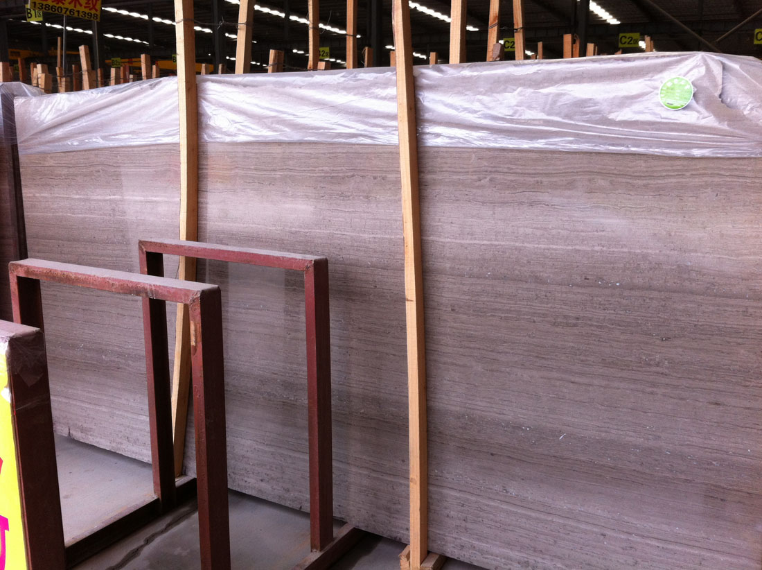 Silk Georgette Catera Grey Wooden Veins Marble Slabs