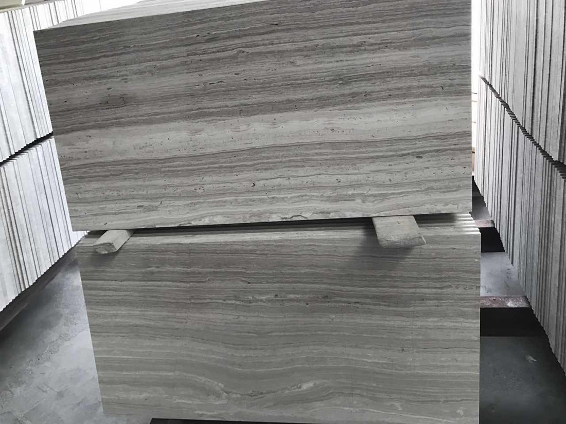 Silk Georgette Catera Grey Wooden Veins Marble Tiles