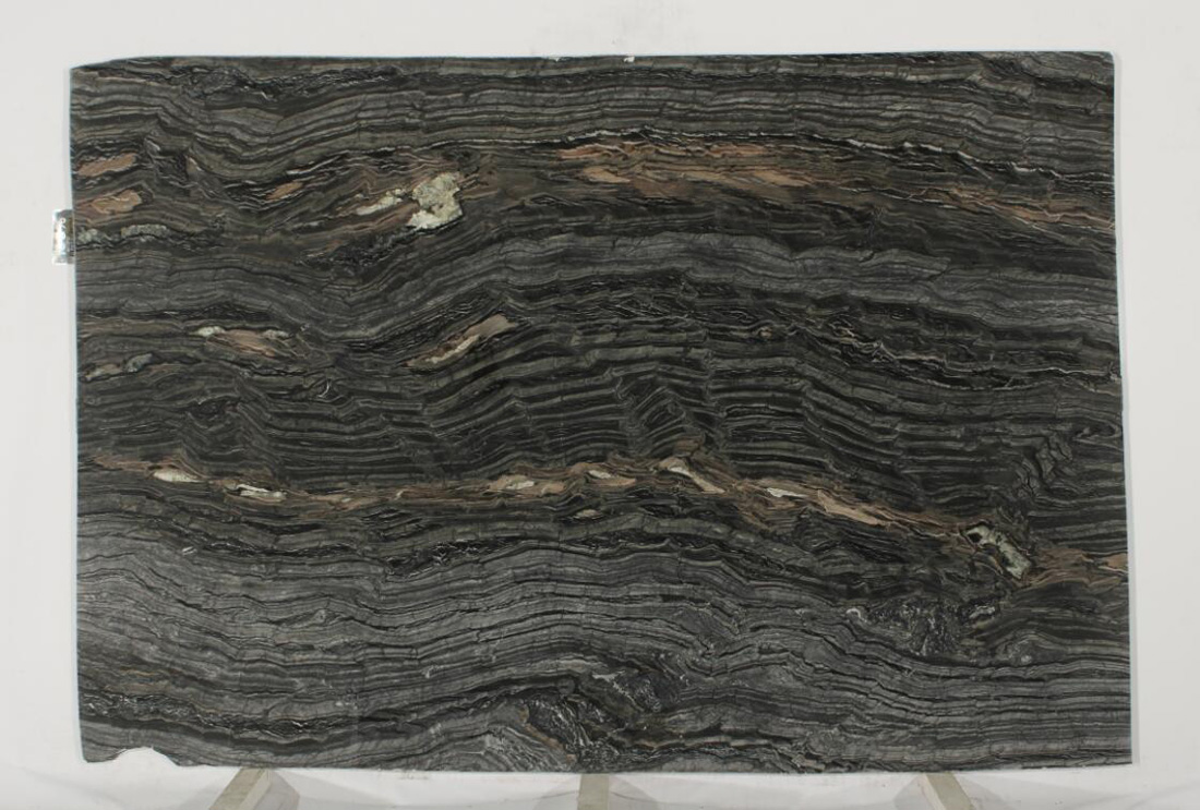 Silver Brown Wave Marble Slabs for Walls and Floors