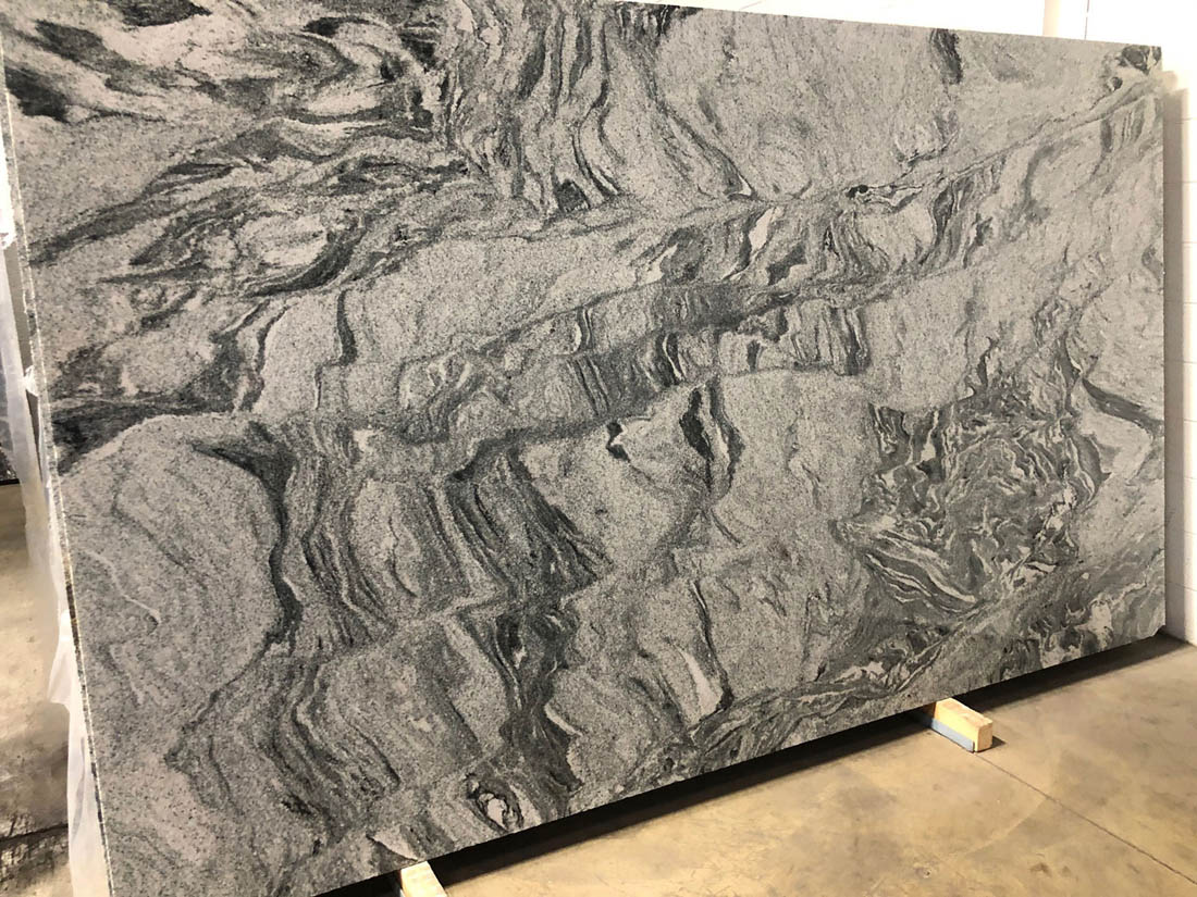 Silver Cloud Slab Indian Grey Granite Stone Slabs for Export