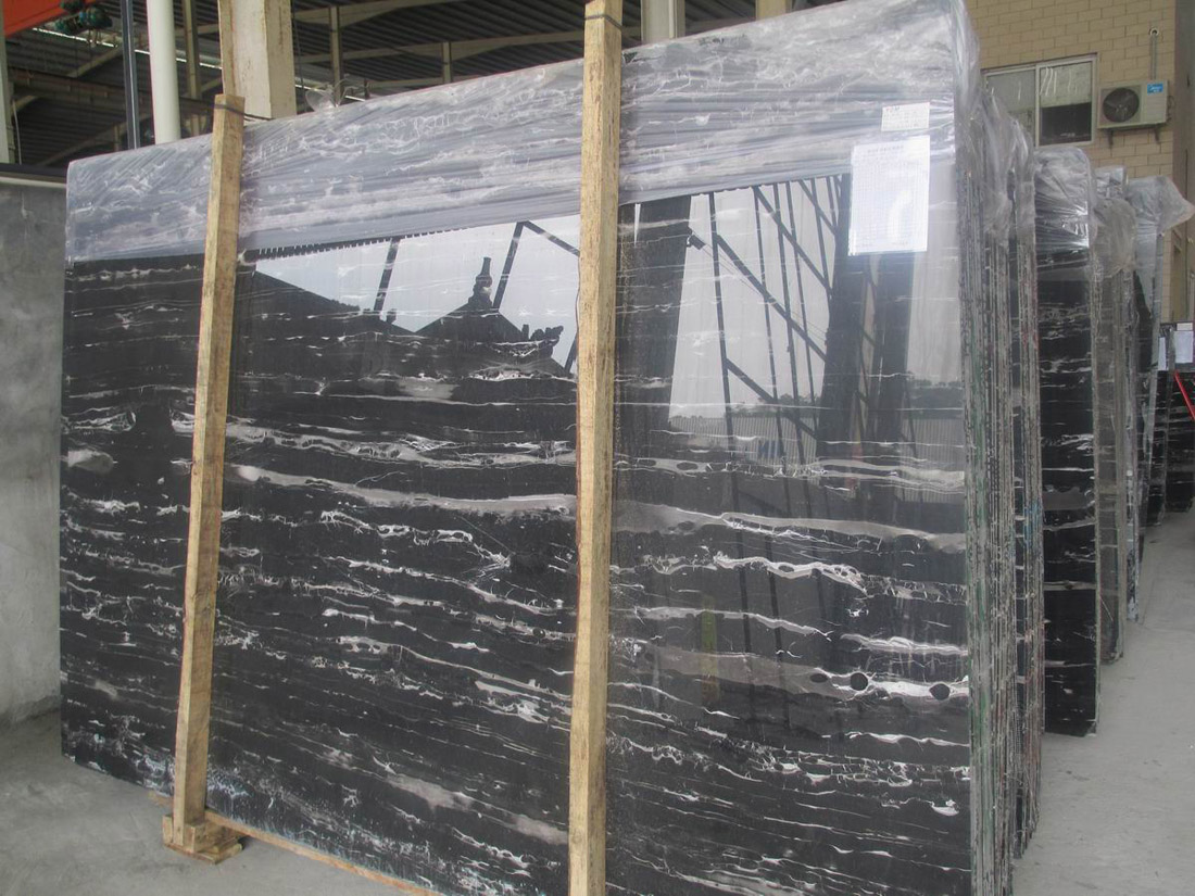 Silver Dragon Marble Polished Black Marble Slabs