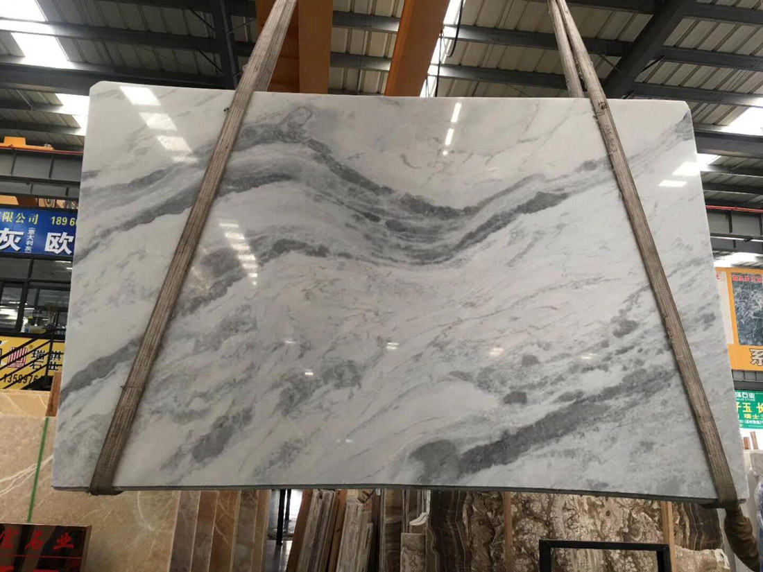 Silver Dragon Marble Slab White Polished Marble Slabs