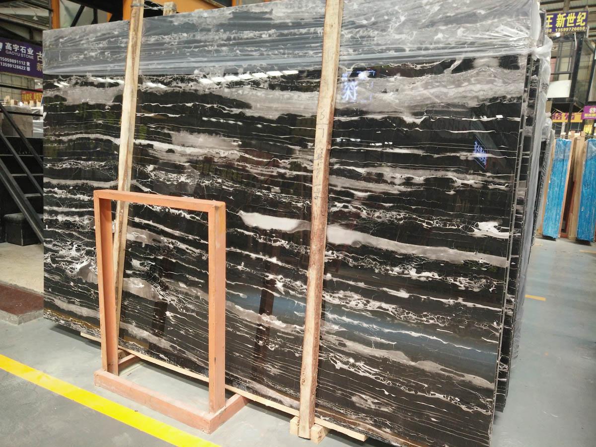 Silver Dragon Marble Slabs , Vein Cross