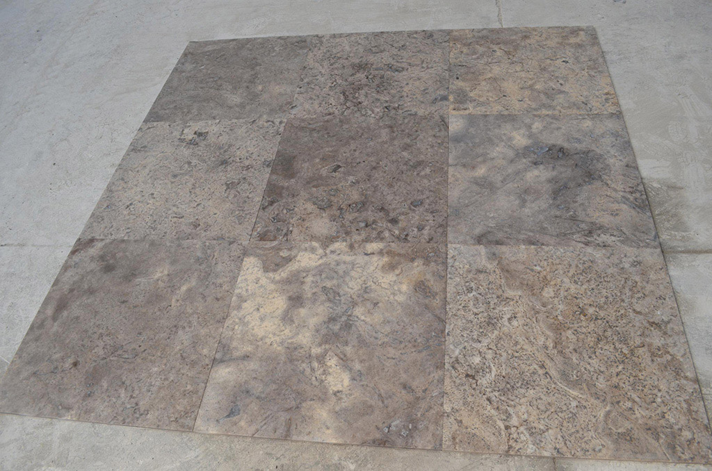 Silver Filled & Honed Travertine Tiles for Flooring