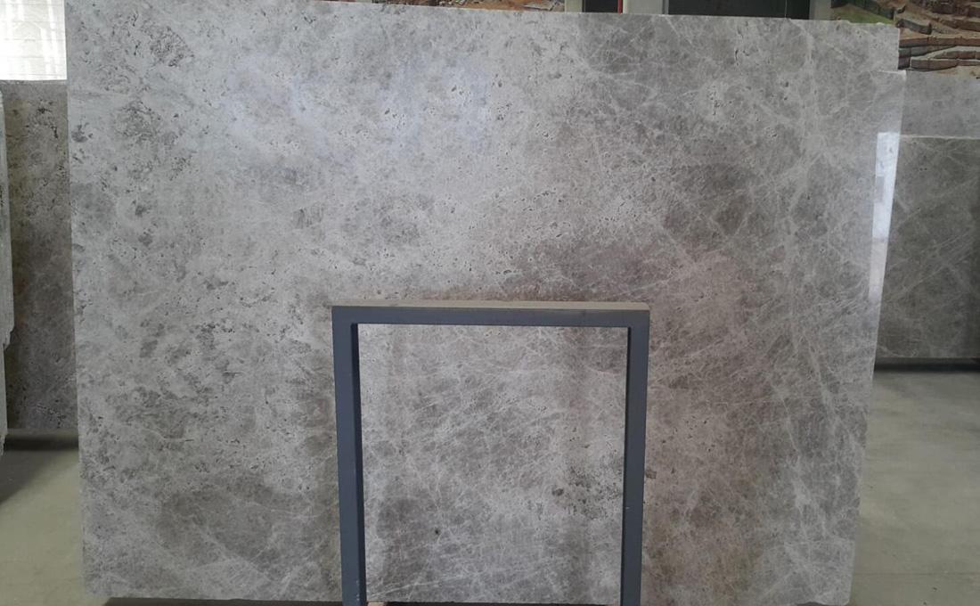 Silver Galaxy Polished Marble Slabs Turkish Grey Marble Stone Slabs