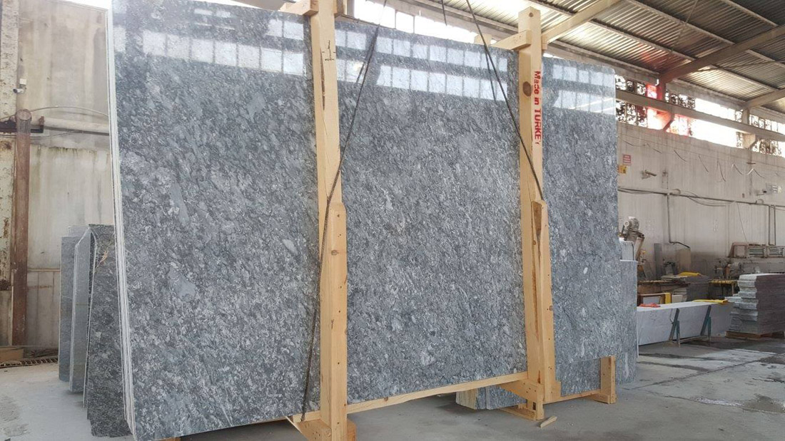 Silver Grey Marble Polished Slabs