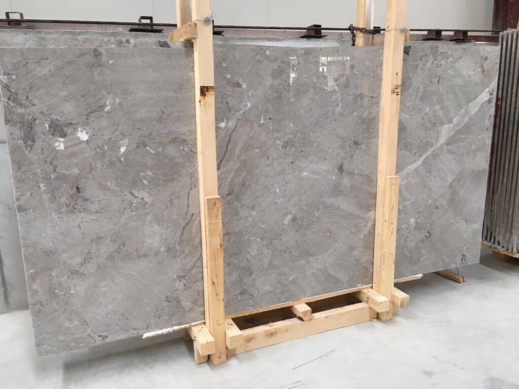 Silver Grey Marble Slab Turkish Grey Stone Slabs