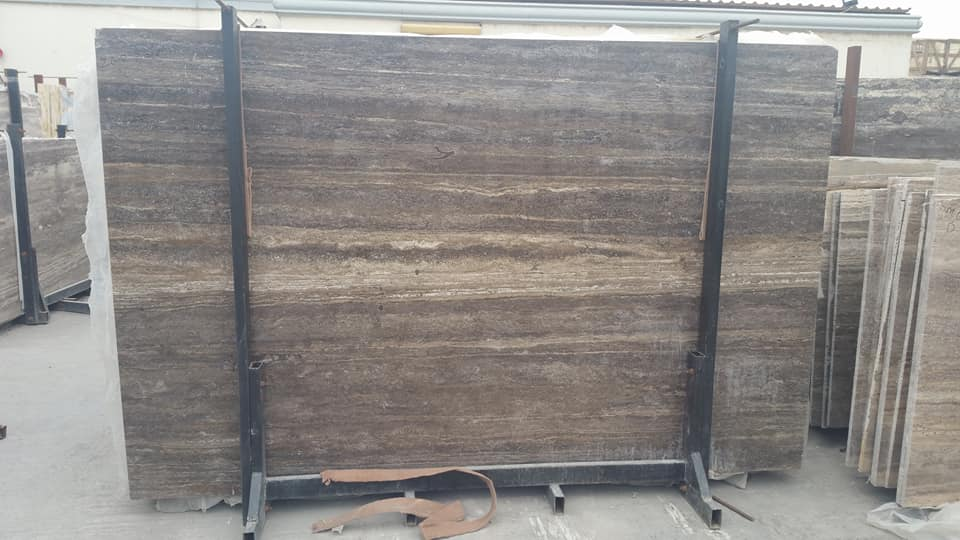 Silver Grey Travertine Iranian Travertine Stone Slabs