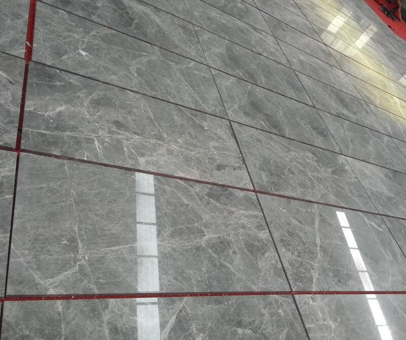 Silver Mink Marble Tiles Polished Grey Marble Stone Flooring Tiles