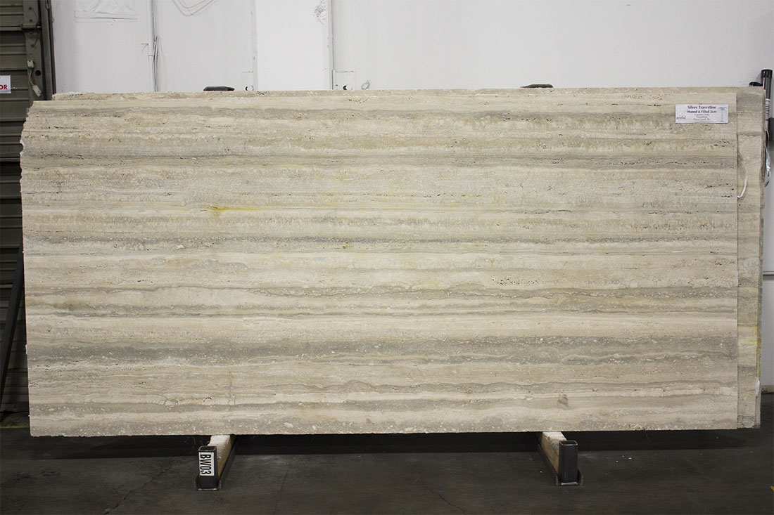 Silver Travertine Honed 2cm Slabs