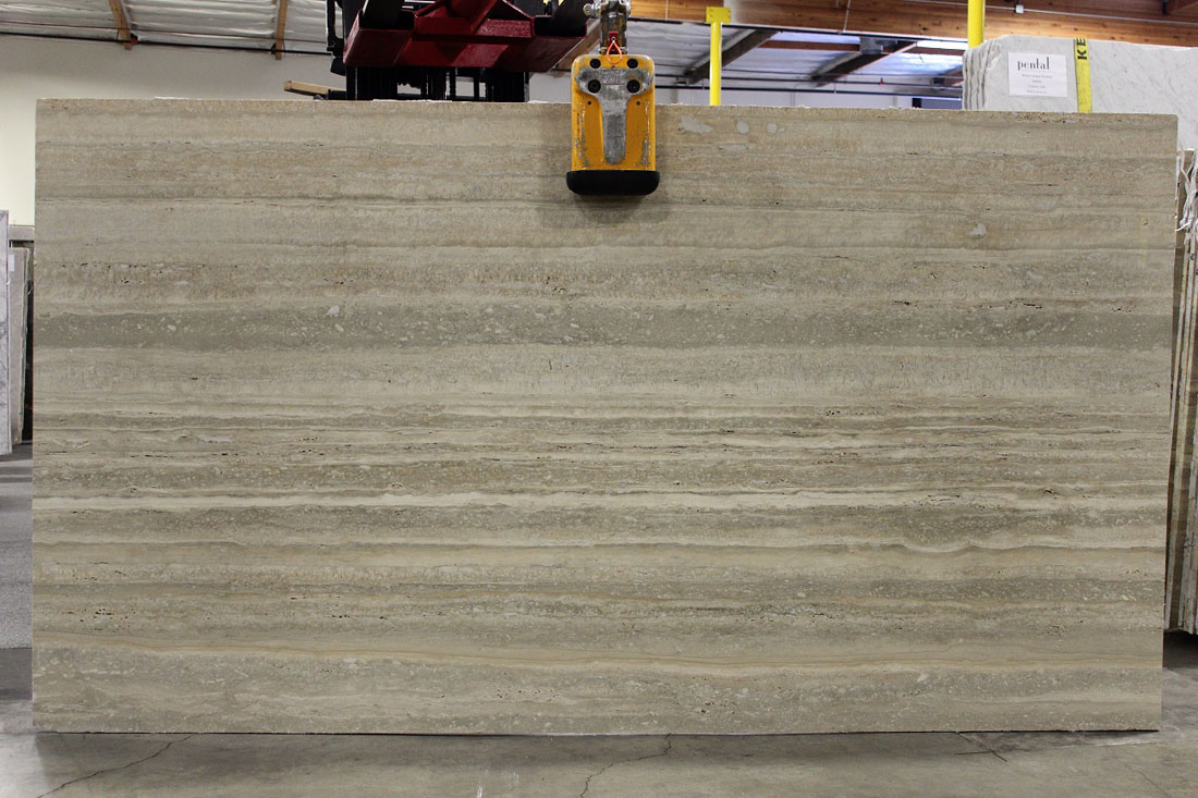 Silver Travertine Polished Slabs