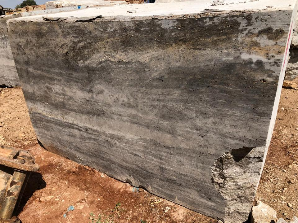 Silver Travertine Stone Grey Nature Travertine Stone Blocks