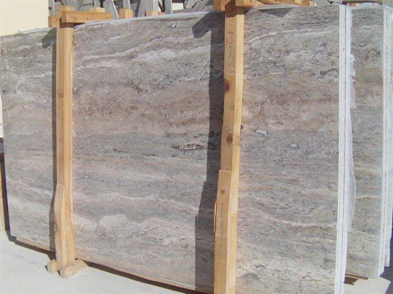 Silver Veincut Travertine Slabs Turkish Grey Travertine Stone Slabs