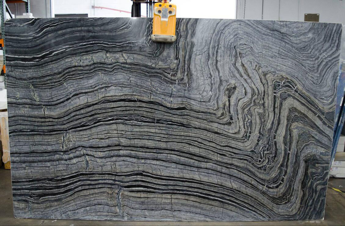 Silver Wave Marble Polished Grey Marble Slabs from China