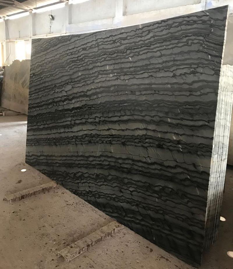 Silver Wave Marble Slabs Chinese Premium Black Marble Stone Slabs