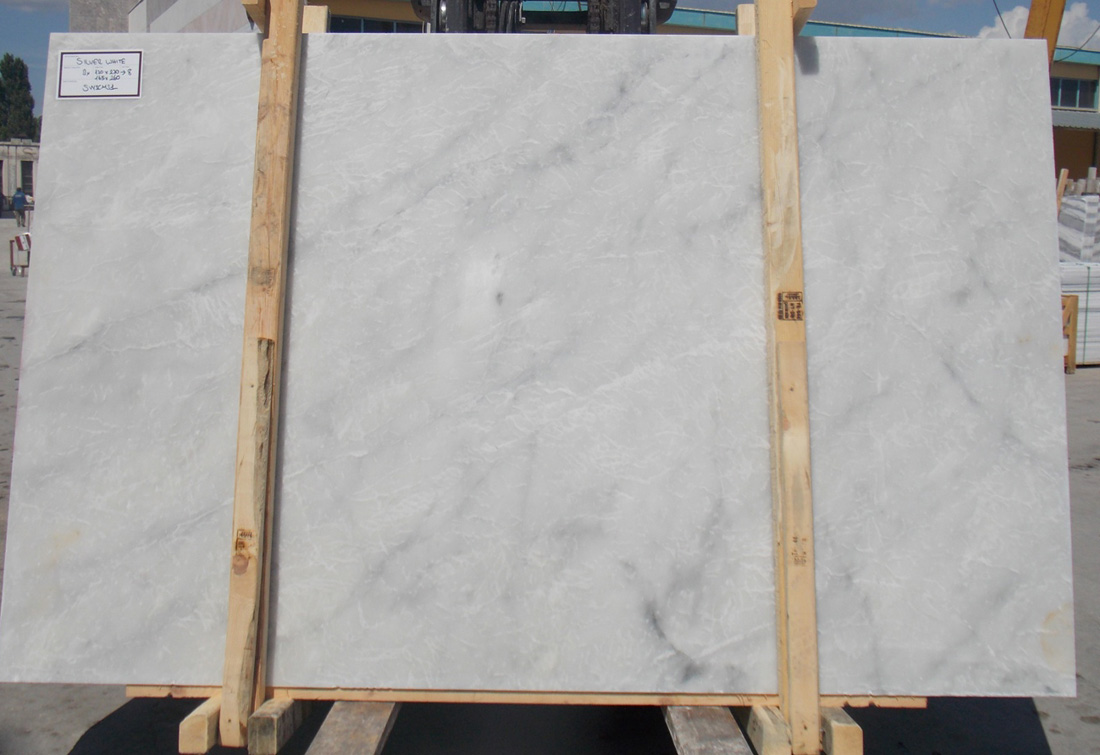 Silver White Marble Slabs Top Quality White Marble Slabs