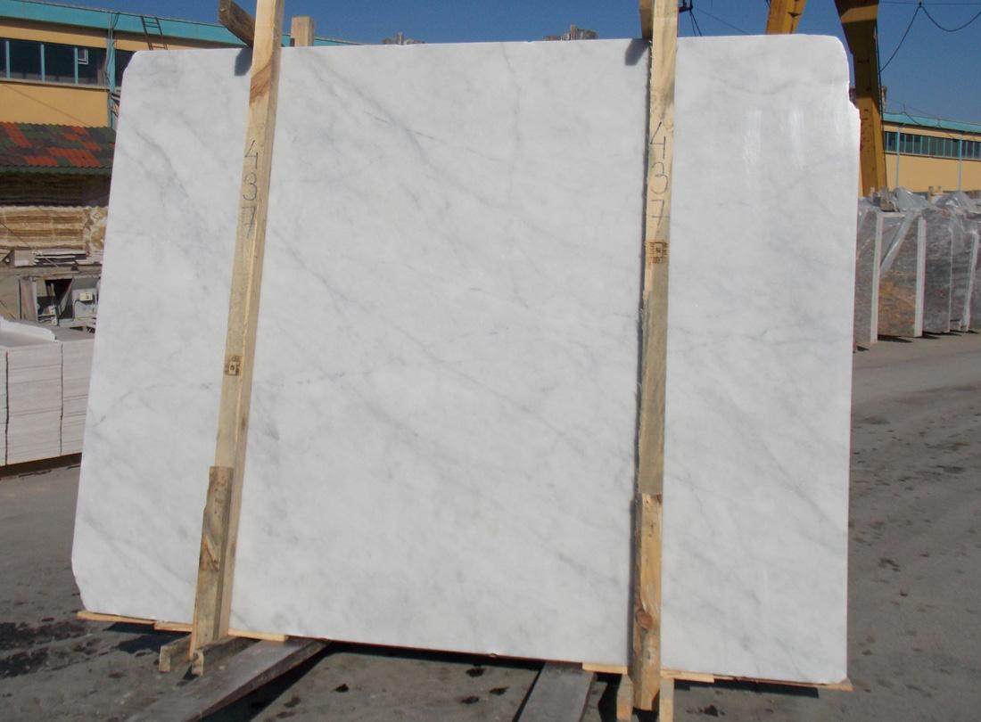 Silver White Stone Slabs Polished White Marble Slabs