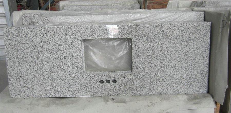 Silvery White Granite Bathroom Vanity Tops