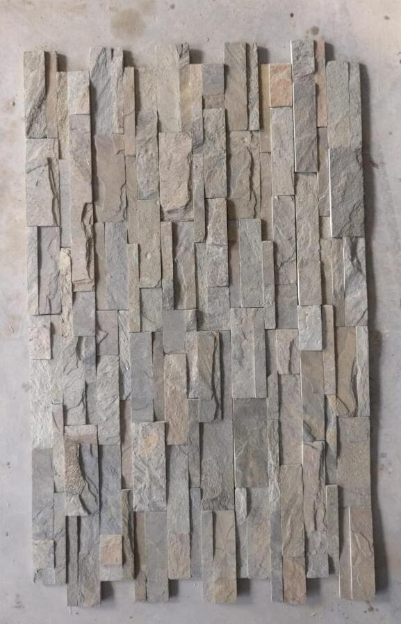 Slate Wall Cladding Indian Grey Culture Stone for Walling