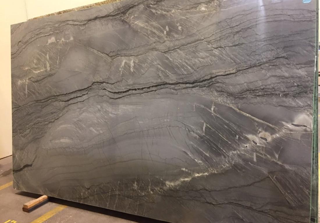 Smokey Blue Quartzite Slab Polished Quartzite Stone Slabs