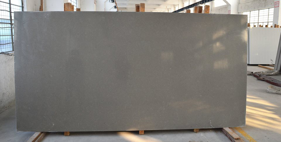 Smoky Grey Quartz Slabs for Kitchen Top