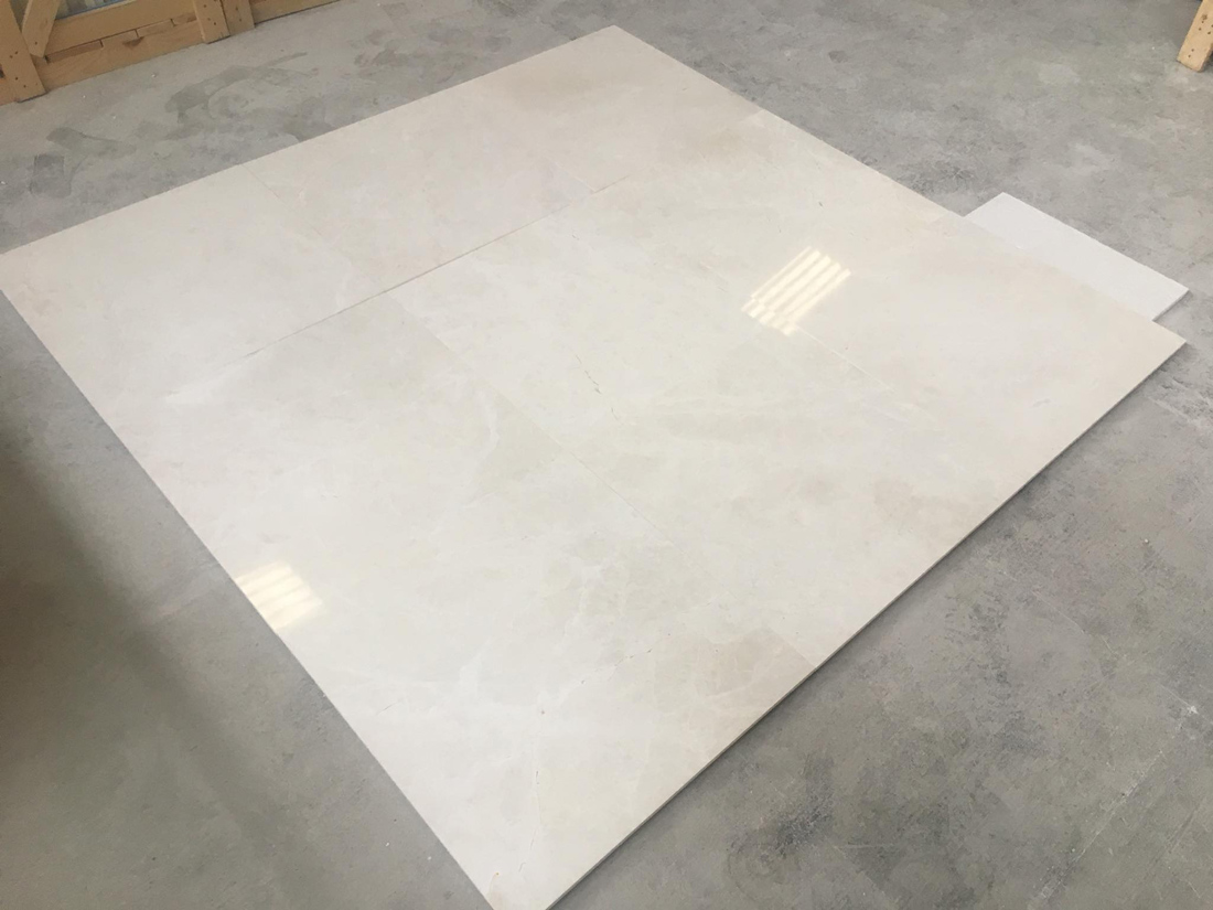 Snow White Tiles Polished White Marble Slabs