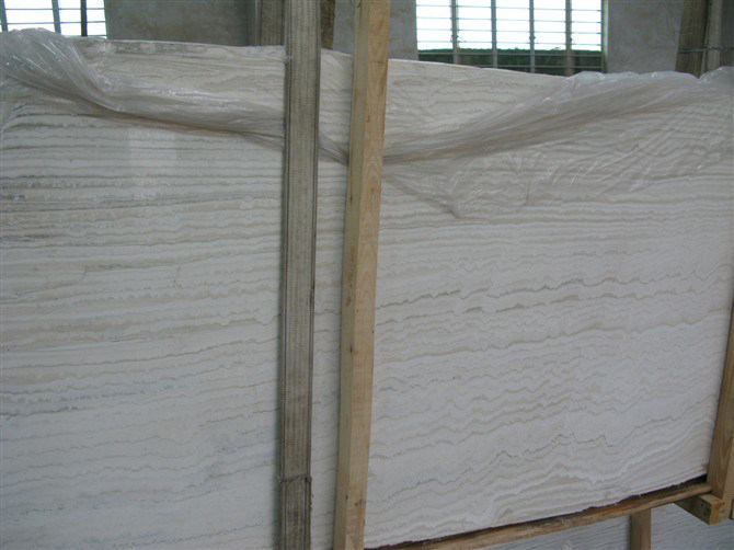 Snow White Travertine Slab
