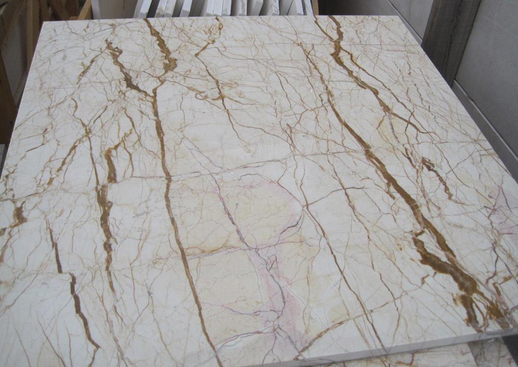 Sofita Beige Marble Slabs Polished Marble Flooring Tiles