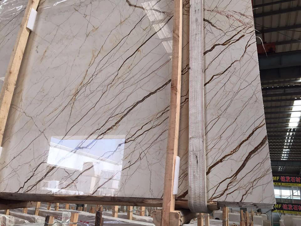 Sofita Beige Polished Marble Slabs