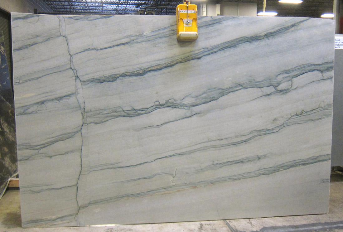 Soleil 3cm Polished White Quartzite Stone Slabs